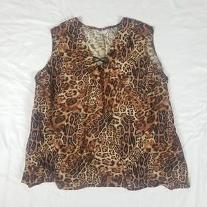 Animal cheetah print tank (no sz tag)